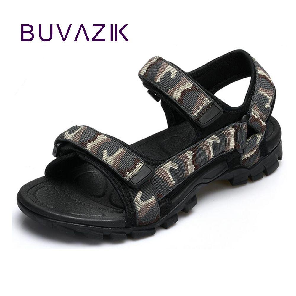 2017 mode camouflage d'été hommes casual sandales respirant de crochet hommes mâle chaussures de plage grande taille 44 45 livraison gratuite