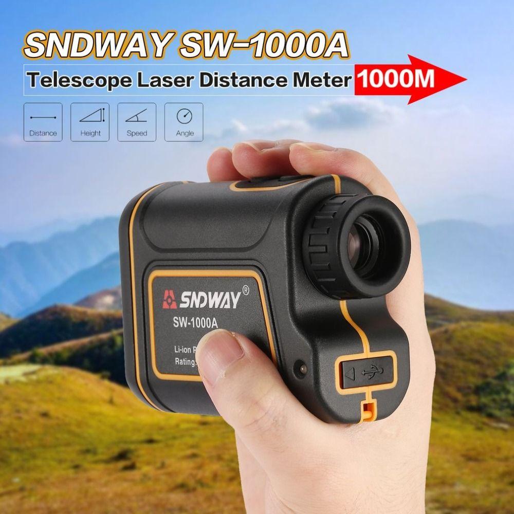 SNDWAY SW-1000A Monocular Telescope Laser Rangefinder 1000m Trena Laser Distance Meter Golf Hunting laser Range Finder