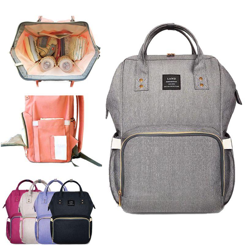 LAND Fashion Maternity Bag Mummy Nappy Bags Brand Large Capacity Baby Bag Travel Backpack <font><b>Design</b></font> Nursing Diaper Bag Baby Care