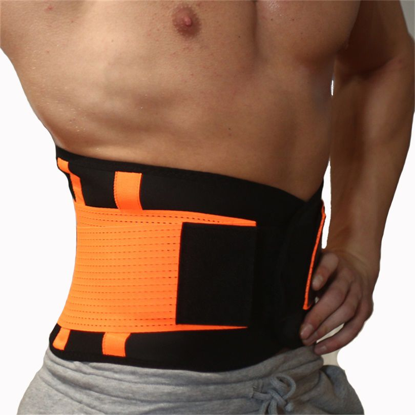 Men And Women Neoprene Lumbar Waist Support Waist Trimmer Belt Unisex Exercise Weight <font><b>Loss</b></font> Burn Body Shaper Gym Fitness Belt