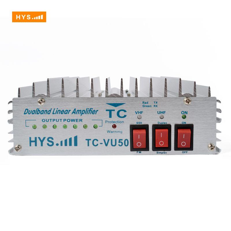 HYS Dual Band Power Amplifier VHF UHF 140-150MHz&470-480MHz For Portable Ham Handheld Two Way Radio Walkie Talkie 50W TC-VU50