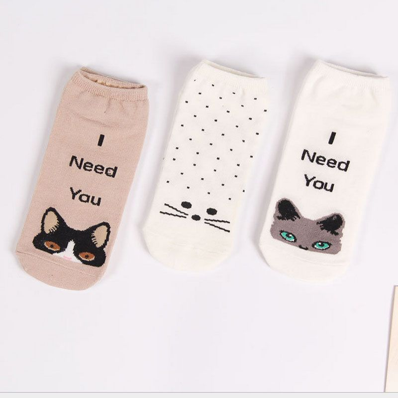 WOMEN LOAFER SOCKS NON-SLIP SOCK CUTE CARTOON FACTORY WHOLESALE ANKLE SOCK COTTON HIGH QUALITY FREE SHIPMENT OEM DESIGN