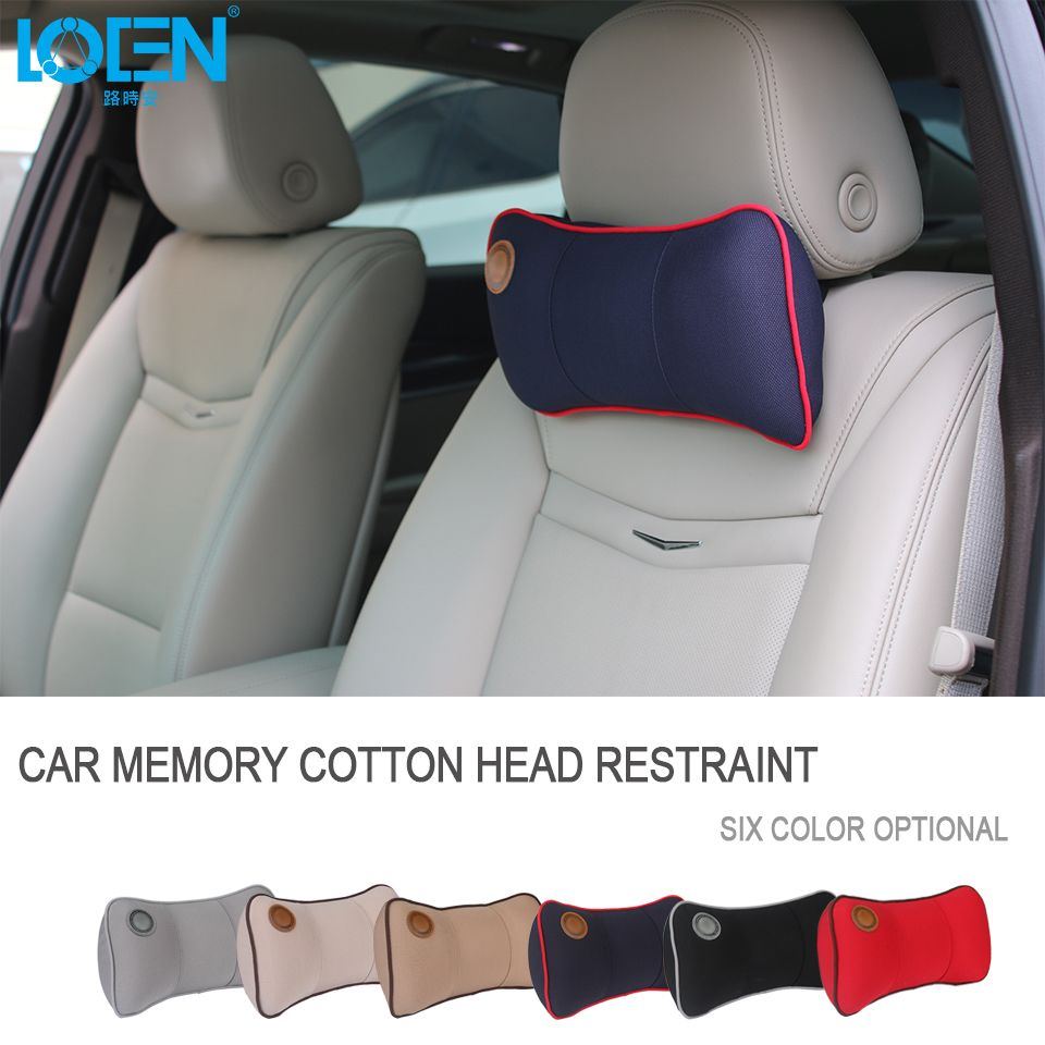 LOEN Car Memory Foam Car Neck Pillow Comfortable Pillow Car Seat Headrest Comfortable Neck Cushion For BMW Audi Skoda Corolla VW