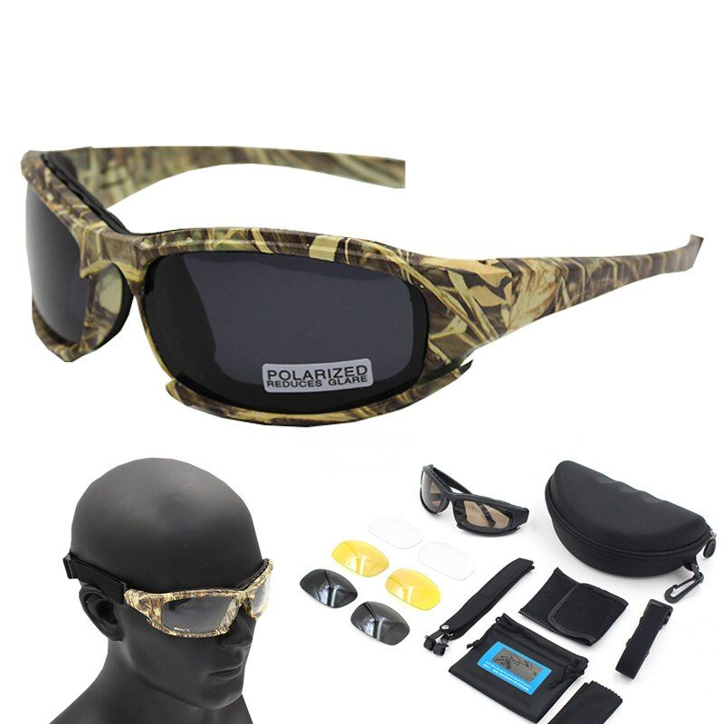 Lunettes De soleil polarisées cadre Camouflage lunettes De soleil Sport lunettes De pêche Oculos De Sol Masculino