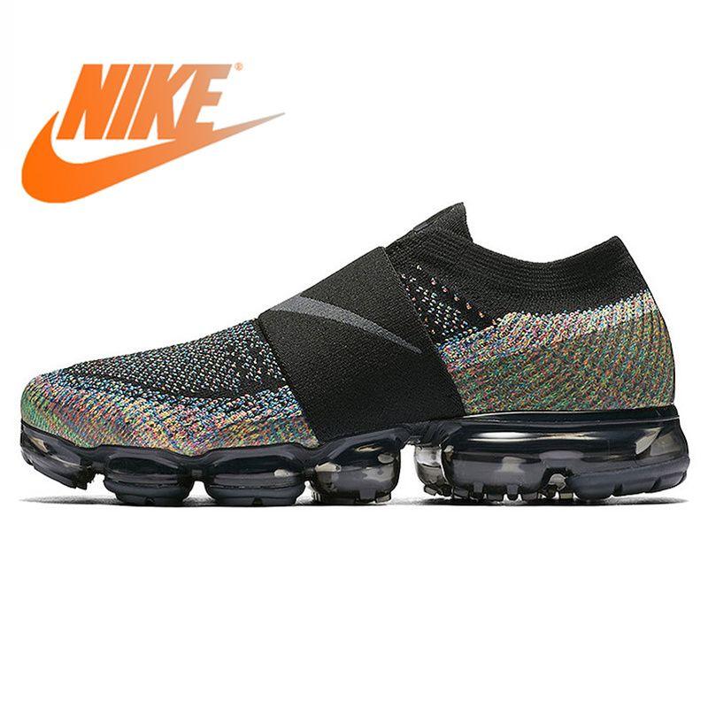 Original Authentischen Nike Air VaporMax Moc Regenbogen Kissen männer Laufschuhe Sport Sneakers Outdoor Atmungsaktive langlebig AH3397