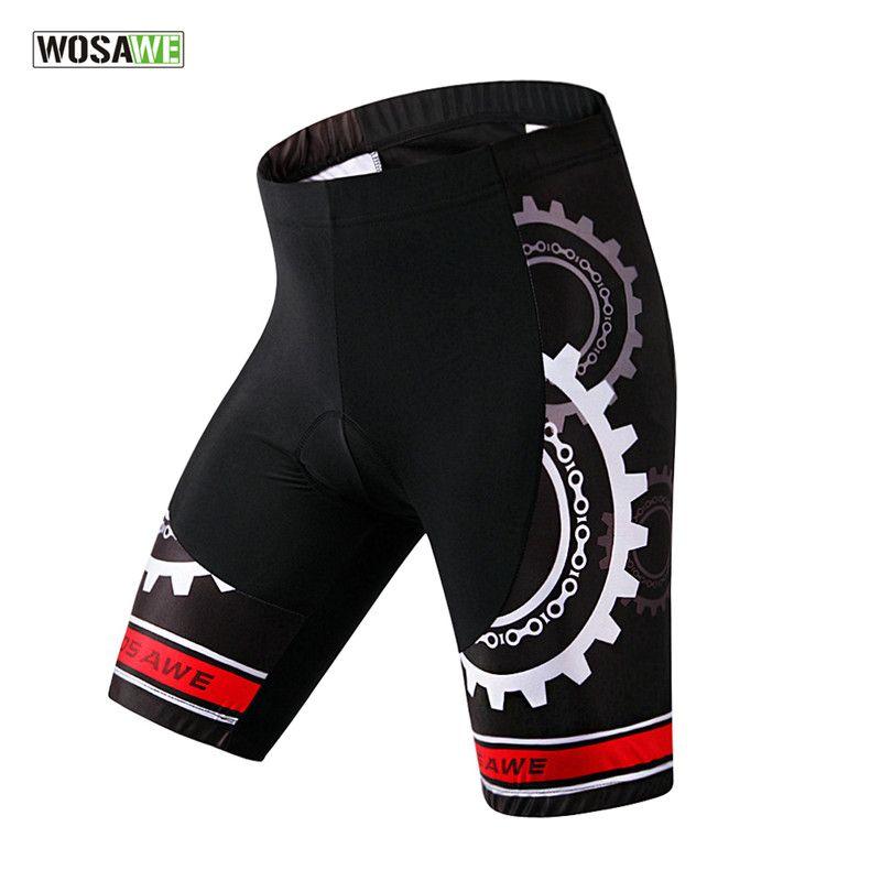WOSAWE Pro Männer Radfahren Shorts Mountainbike Fahrrad 3D Füllte Gel Shorts Fitness Ciclismo Kleidung Sportbekleidung