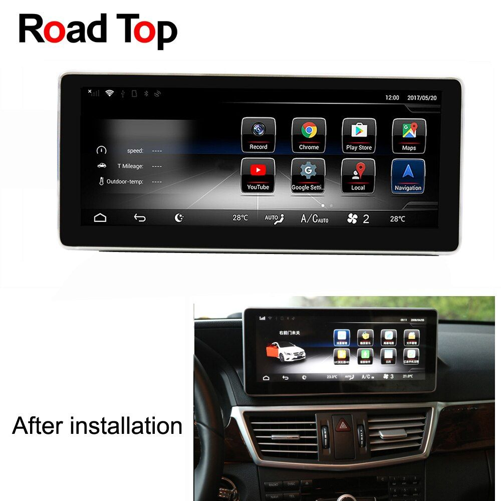 Android 7.1 Octa 8-Core CPU 2+32G Car Radio GPS Navigation Bluetooth WiFi Head Unit Screen for Mercedes Benz E-Class Coupe C207