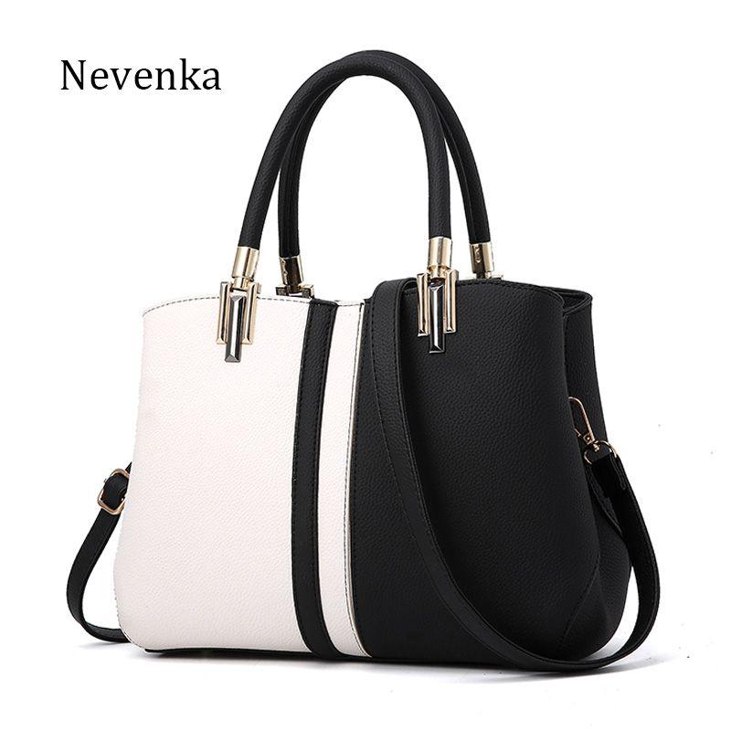 Nevenka Women Handbag PU Leather Bag Brand Tote Female Style Evening Bags Zipper High Quality Bag Lady Original Design Bags Sac