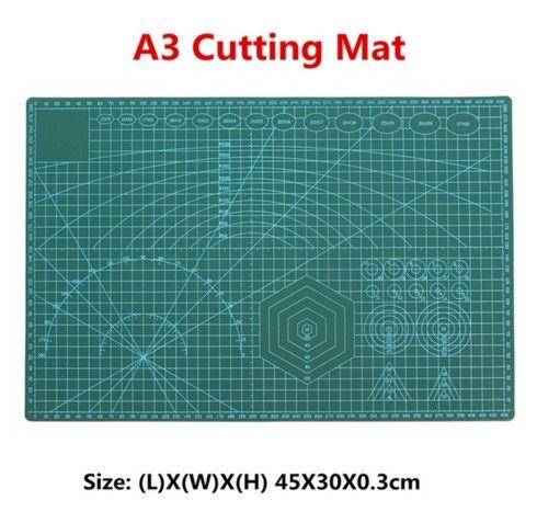1PC PVC Cutting Mat A3 Durable Self-healing Cut Pad Patchwork Tools Handmade Diy Accessory Cutting Plate Dark Green 30*45cm