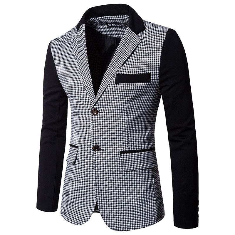 Men's Long-sleeved Suits Jacket S M L XL 2XL 3XL Fashion Casual Man Lattice Suit Coats Slim Elegant and Comfortable Blazers