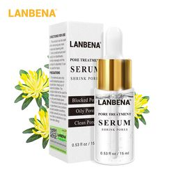 LANBENA пор лечебная сыворотка Суть уменьшить поры укрепляющий увлажняющий масло Управление elieve витамины ремонт гладкой кожей