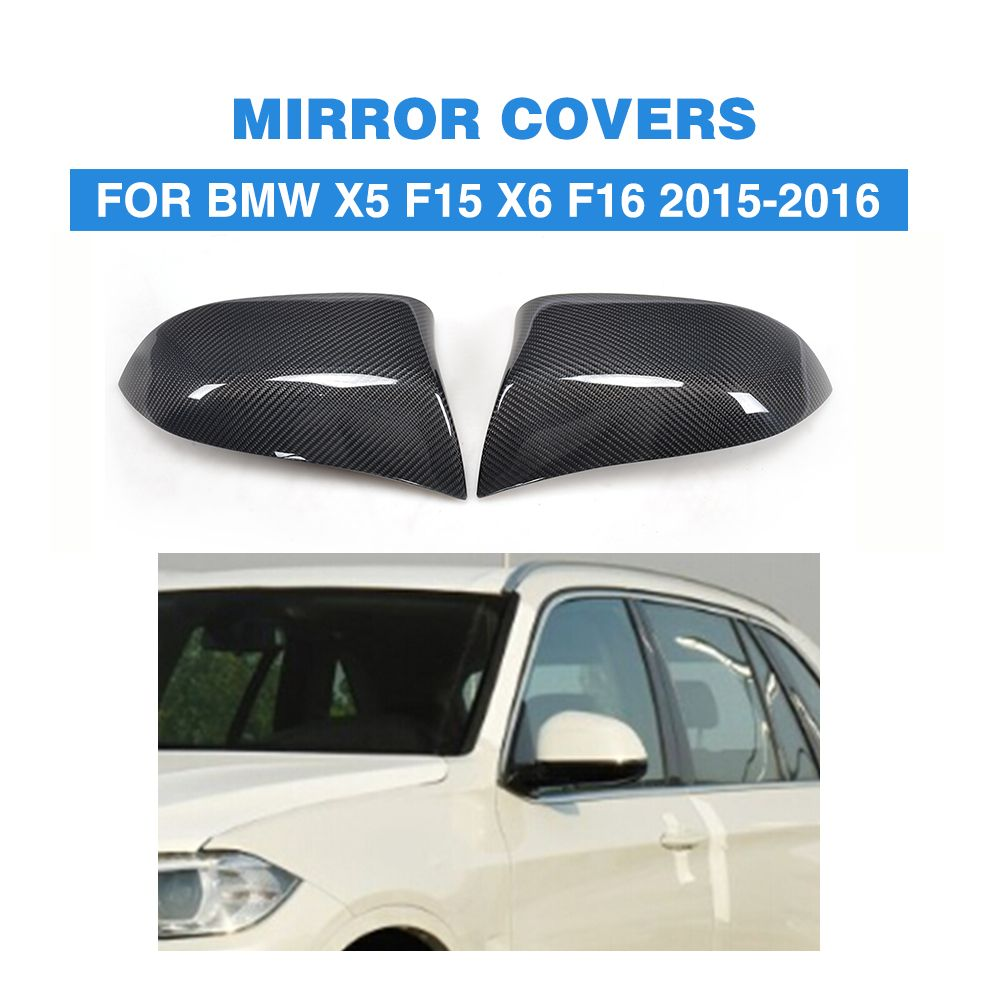Direct Replacement carbon fiber Wing Mirror Covers for BMW X5 F15 X6 F16 Facelift Auto Side Mirror Caps Car Styling