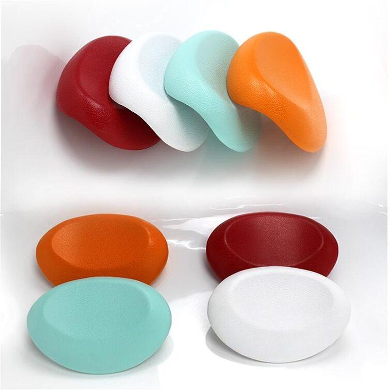 Haute qualité PU Coloré Confort angle conception Oreiller De Bain Baignoire Oreiller Spa Oreiller De Bain avec ventouses