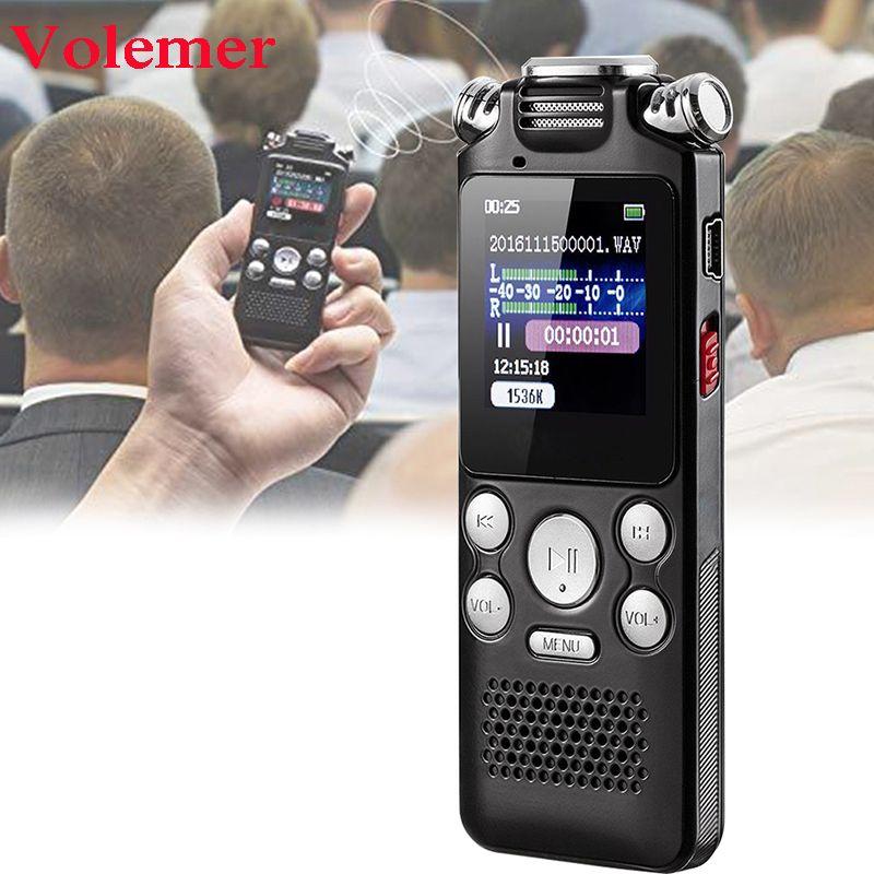 Recharge rapide 8GB Microphone bidirectionnel enregistrement sonore Audio numérique enregistreur vocal réduction de bruit lecteur Mp3 professionnel