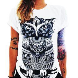 Tshirt 2017 Summer Women Designer Clothing T-shirt Print Punk Rock Fashion Graphic Tees European T Shirt Fashion White Unicorn