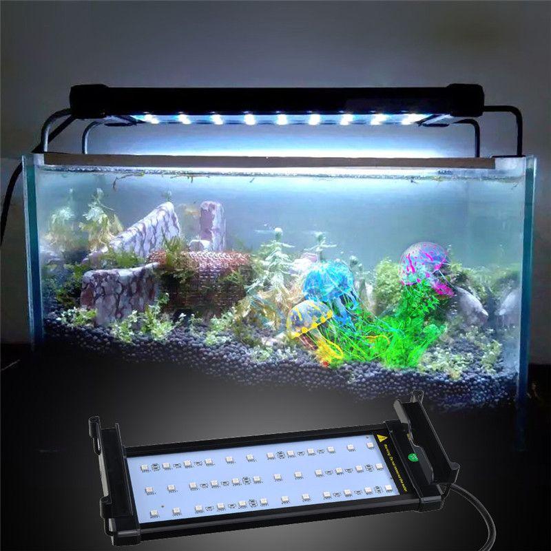 Extendable 30-50cm RGB 16 Colors Aquarium LED Lighting Fish Tank LED Light Lamp 6W 4 modes with EU US UK Plug Remote Control