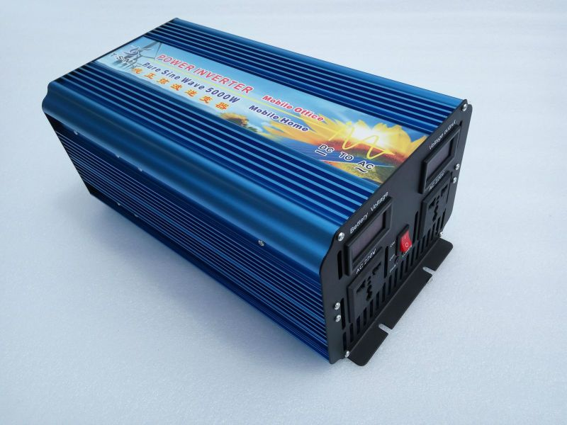 5000W(10000W Peak) off grid inverter. Pure sine wave inverter. Solar inverter. 12/24/48V DC to 100/110/120/220/230/240V AC.