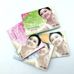 5 pack/250 piezas Facial aceite papel secante cara aceite absorbente hoja película de control de aceite cara claro y limpio