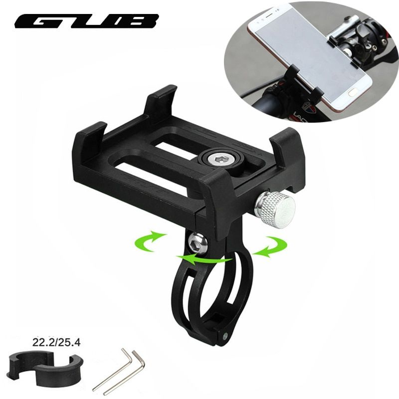 GUB Universal Bicycle Phone Holder 3.5-6.2 inch Smartphone Bike Support Anti-Slip Motorcycle Mount Bracket Cycling Phone Holder