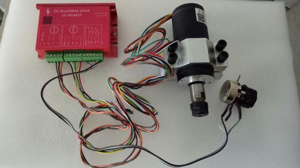 250 w ER11 12000 tr/min moteur de broche cc sans balai et MACH3 kits de CNC de support de pilote et de montage