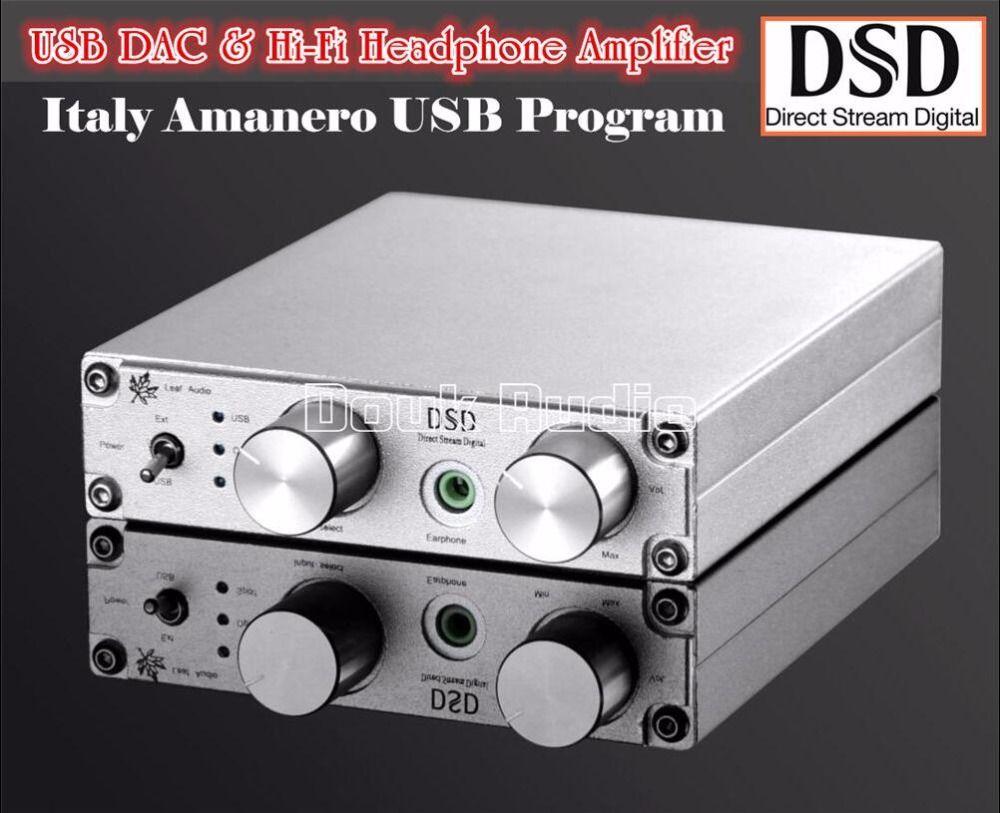 2017 Lastest Douk audio USB Optical Coaxial DAC Audio Decoder Amplifier OTG PCM384K DSD256 Free Shipping