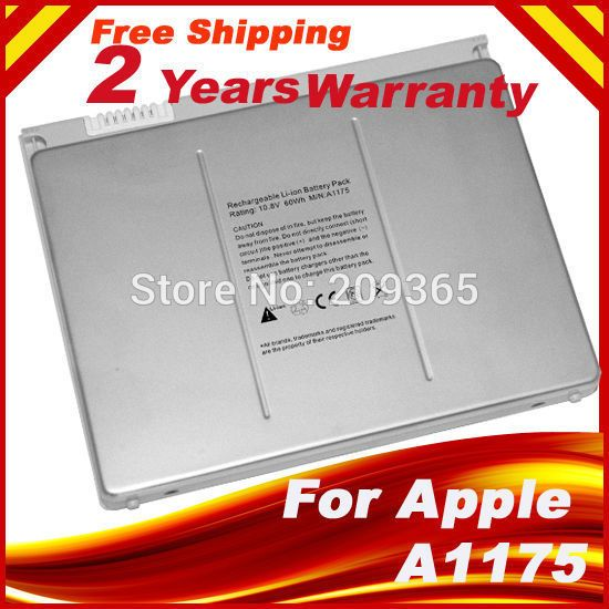 Laptop battery For Apple MacBook Pro 15 A1150 A1260 MA463 A1226 A1211 MA601 MA600 MA609 MA610 MA348G/A MA348J/A A1175 MA348