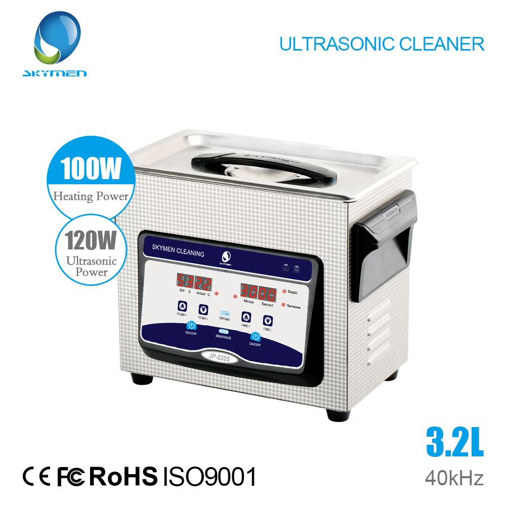 Skymen New Arrival Digital Ultrasonic Cleaner with degassing 3.2L 120W for Main board Laboratory Medical appliance tank
