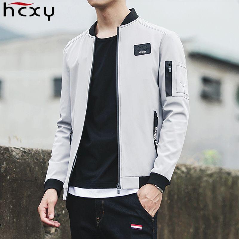 HCXY 2017 New Men Jacket Spring Autumn Fashion Brand Slim Fit Coats Male Baseball Bomber Jacket Mens Coat large size 5XL