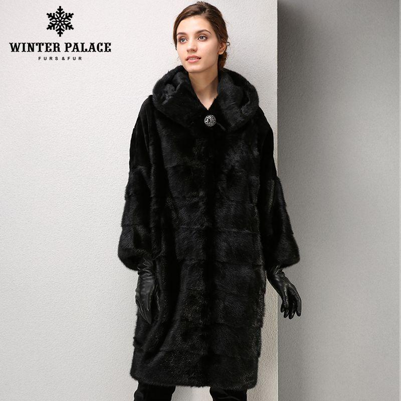 Winter Fashion high-grade women mink coat long fur coat Comfortable mink fur coat Mandarin Collar coat WINTER PALACE