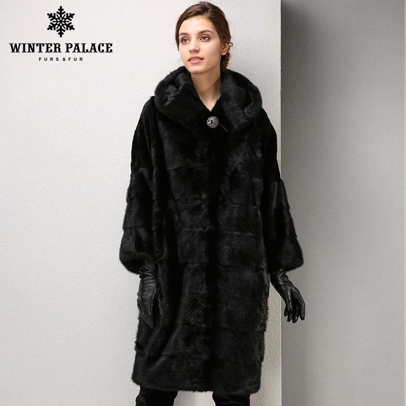 Winter Mode high-grade frauen mlnk mantel lange pelzmantel Komfortable mlnk pelz Stehkragen mantel WINTER PALACE