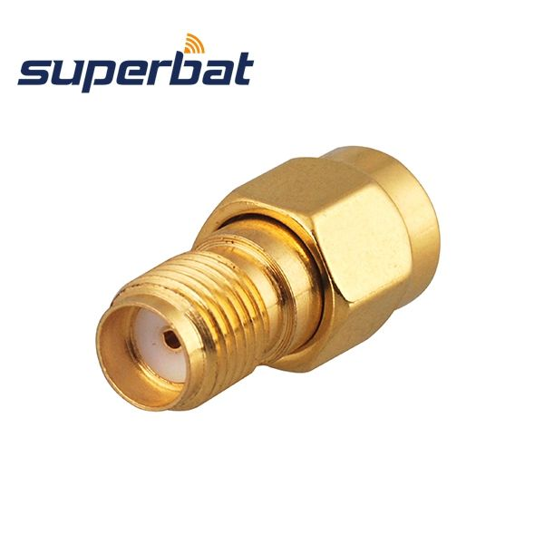 Superbat 5 pcs SMA RF Adapter SMA Male Plug to SMA Female Jack straight Free Shipping Connector