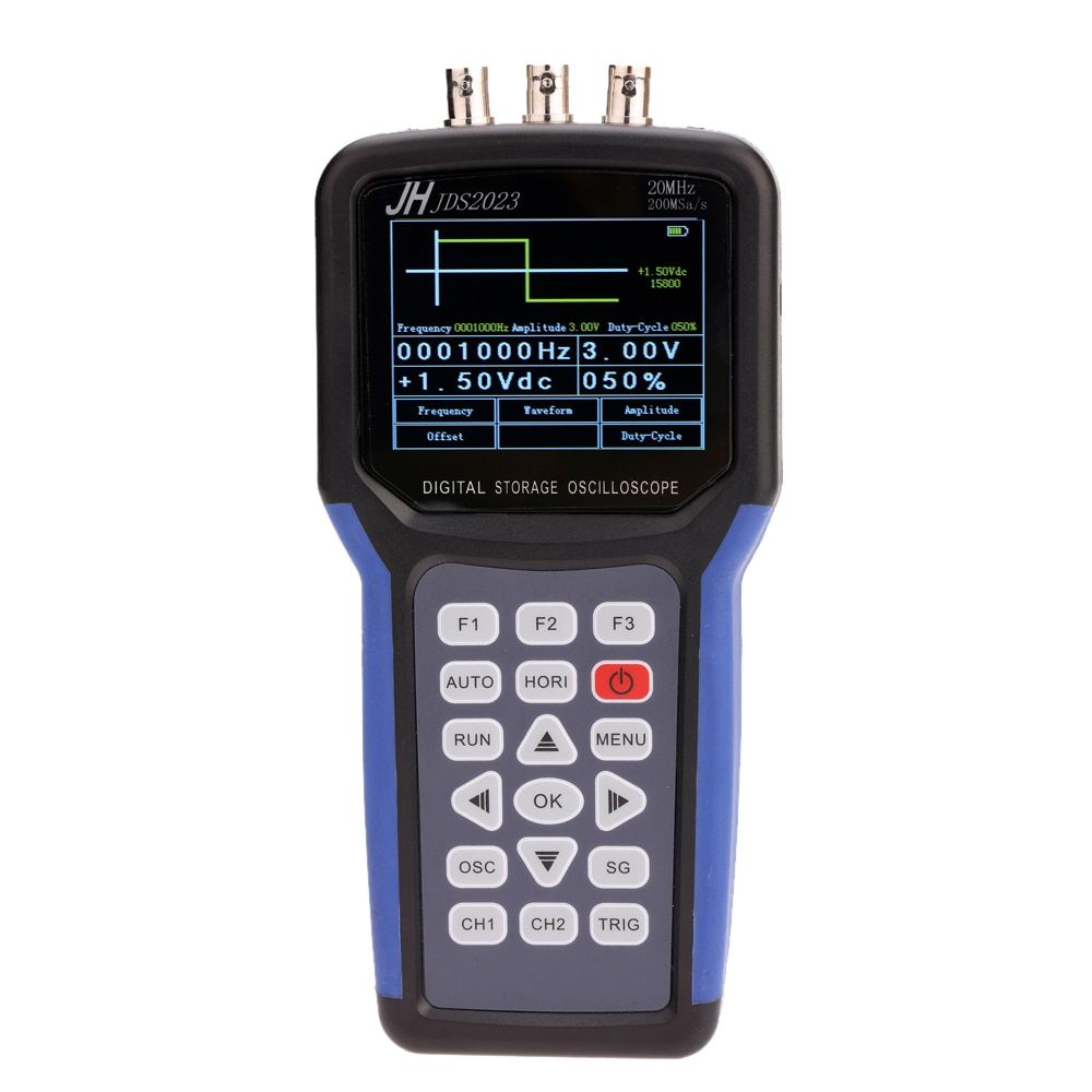 Handheld Multi-functional Digital Oscilloscope + Signal Generator Portable Scope Meter 20MHz Bandwidth 200MSa/s 1CH TFT LCD
