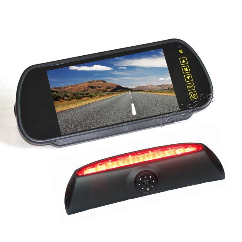 Vardsafe VS507K | Bremslicht Hinten Ansicht, Kamera + 7 Inch Clip-auf Spiegel Monitor für Iveco Daily van (2006-2013)