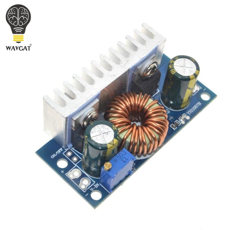 WAVGAT DC-DC Boost Konverter Nicht isoliert Step-Up Power Supply Module Mit Kühlkörper Einstellbar 4,5 v- 32 v zu 5-42 v 6A