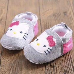 Tongyouyuan nuevo bebé niños lindos dulces inferior suave primeros caminante anti-skip prewalkers Zapatos Hello Kitty calzado