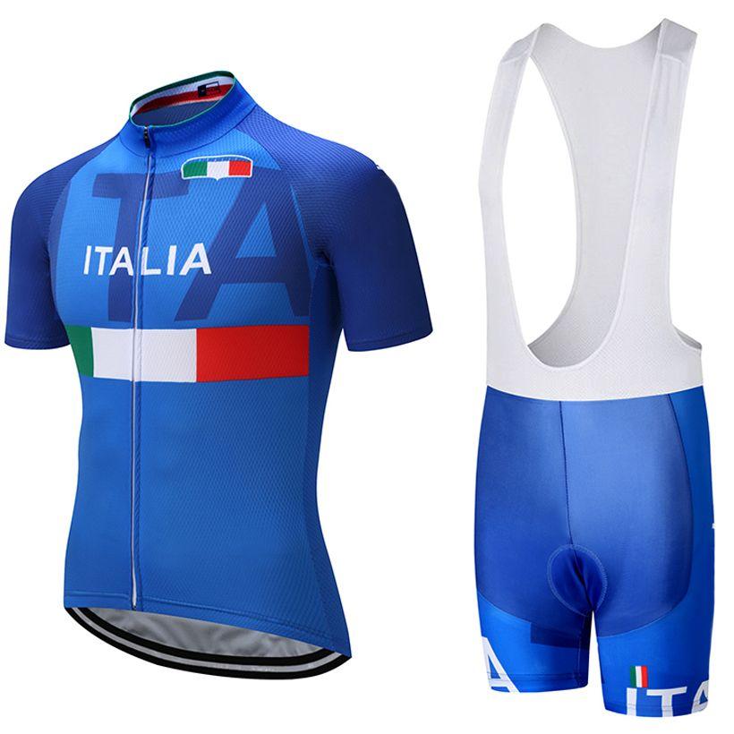 2018 ITALIA TEAM PRO cycling jersey 9D pad bibs shorts set Ropa Ciclismo mens summer quick dry bike shirts Maillots Culotte