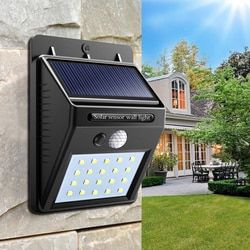 Solar Lamp wall Portable Led Light Sensor automatically Camp Tent Flashlight Night led Garden road Light waterproof outdoor Bulb