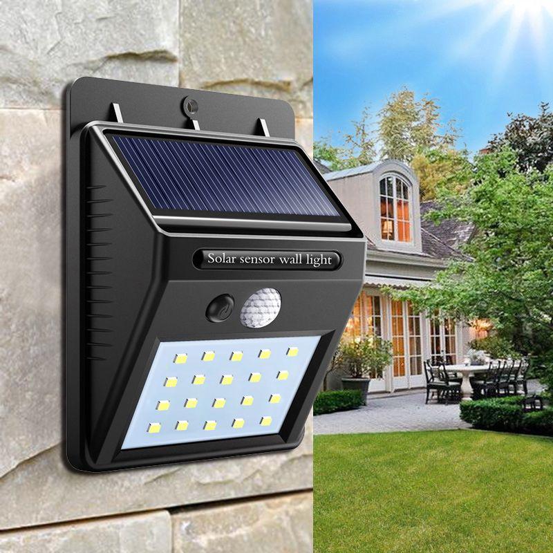 Solar Lamp wall Portable Led Light Sensor automatically Camp Tent Flashlight Night led Garden road Light waterproof outdoor Bulb