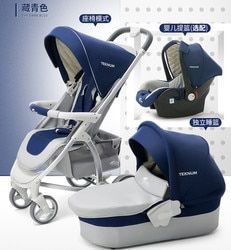 High landscape baby stroller one button folding car four wheel shock absorber two-way baby sleeping cart