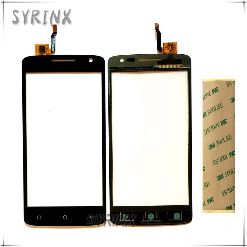 Syrinx + 3M Tape touch panel For DEXP Ixion EL250 touch screen digitizer front glass lens replacement touch sensor free shipping