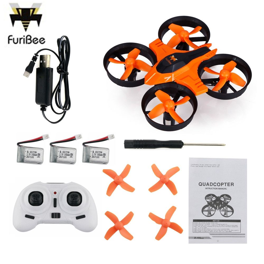 Drop Shipping FuriBee F36 Mini Helicoputer 2.4GHz 4CH 6 Axis Gyro RC Quadcopter Headless Mode Speed Switch Kids Best Gift Toys