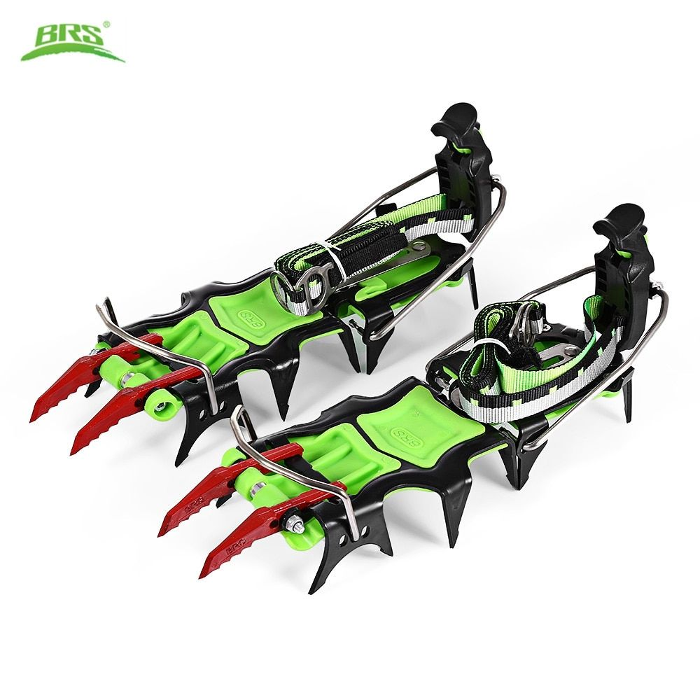 BRS 14 Teeth Professional Outdoor Climbing Full Clip Crampon Manganese Steel Ice Gripper Mountaineer Expeditions BRS-S5
