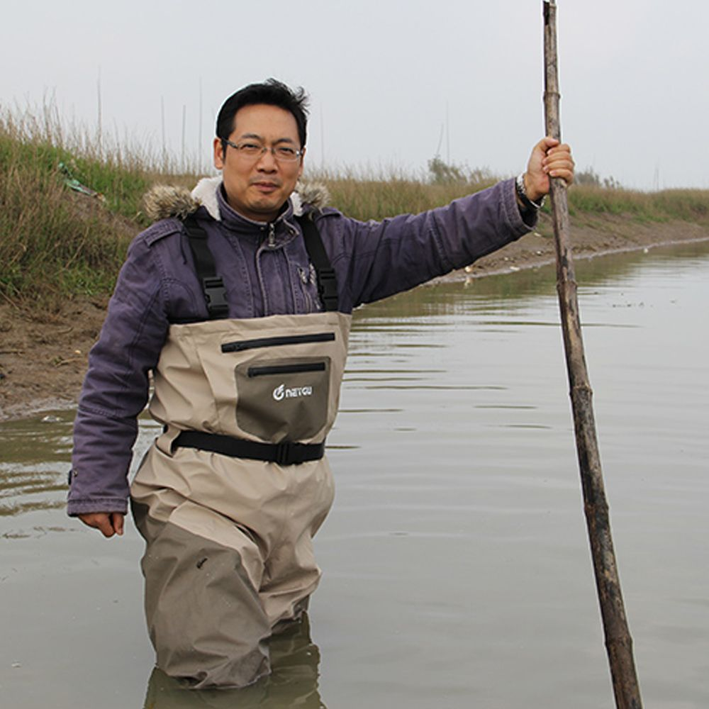 Waterproof Chest Fishing Waders for Men, Breathable Rafting Waders with Stocking Foot