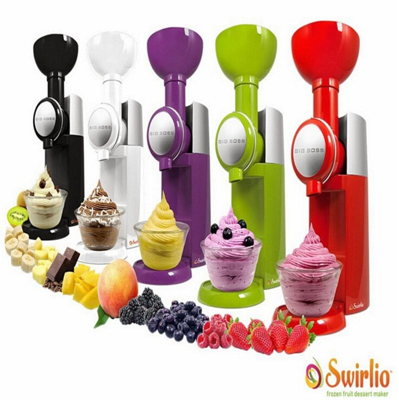 Big Boss Swirlio Frozen Fruit Dessert Maker Fruit Ice Cream Machine Or Electric Ice Cream Maker 110V-240V, EU or US plug