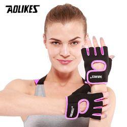 AOLIKES 1 Pair Men Women Gym Half Finger Sports Fitness Exercise Training Wrist Gloves Anti-slip Resistance Weightlifting Gloves