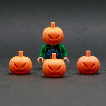 City Accessories Bricks Pumpkin Figures Headgear Friends Building Blocks Mini Compatible LegoINGlys Parts Toys for children 2019