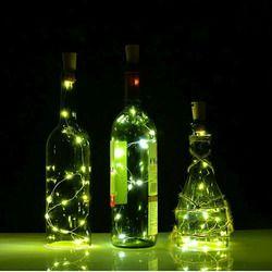 2 м 20 светодиодный s мини светодиодный праздник гирлянды для бутылок Пробка стекло ремесло для внутреннего наружного свадьбы рождественски...