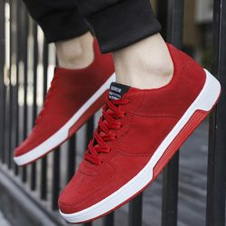 Men Casual Shoes adult Spring autumn Classic Fashion Male Lace up Flats Comfortable Sneakers 4 colors Extra large size 39-46