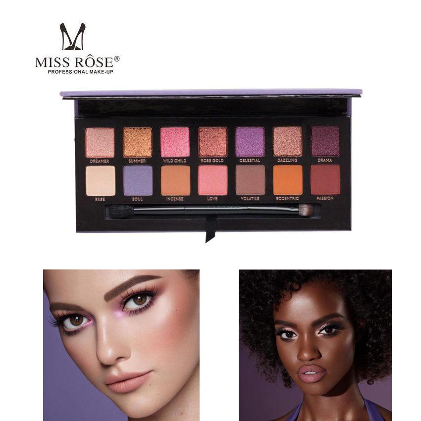 Mlle Oeil Maquillage Doux Prisme Lueur Lueur Palette Visage Surligneur Bronzer Doux 14 Couleur Fard À Paupières Palette Lueur Kit