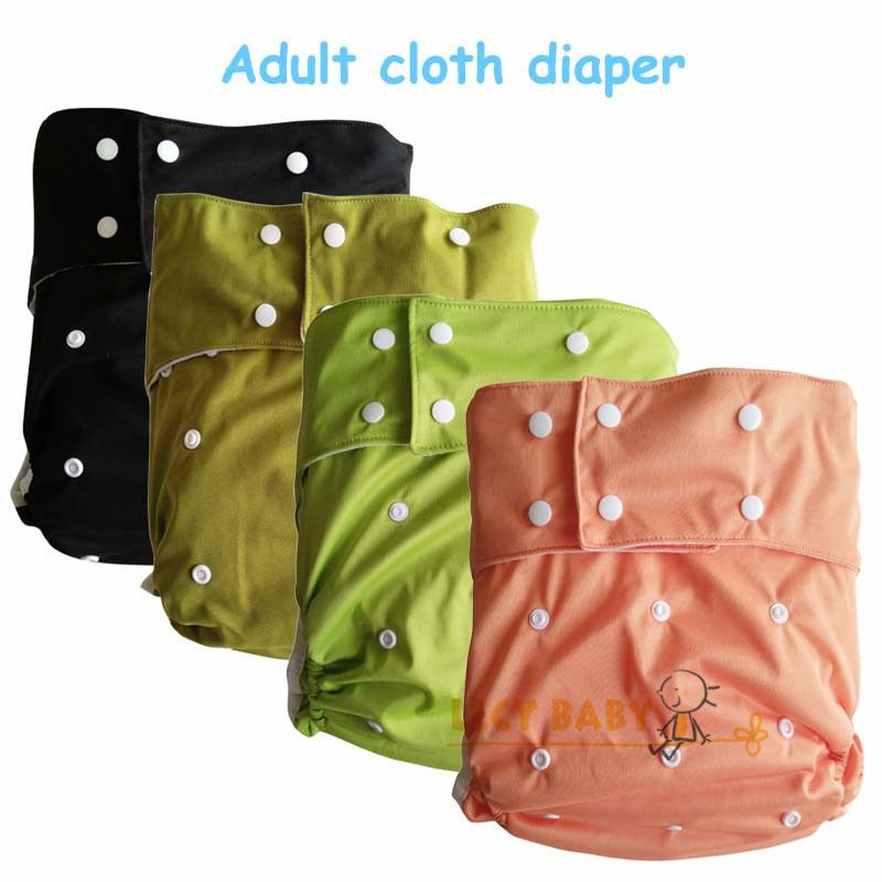 Free Shipping 1pc PUL Plain color  Waterproof Adult cloth diaper ,Reusable And Machine Washable adult Diapers for disabled